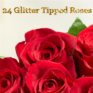 24-Glittered-Red-Roses-by-Flowerama