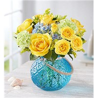 Coastal-Garden-in-Moroccan-blue-candle-holder-vase
