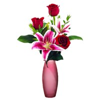 3-rose-with-stargazer-lily-in-a-vase